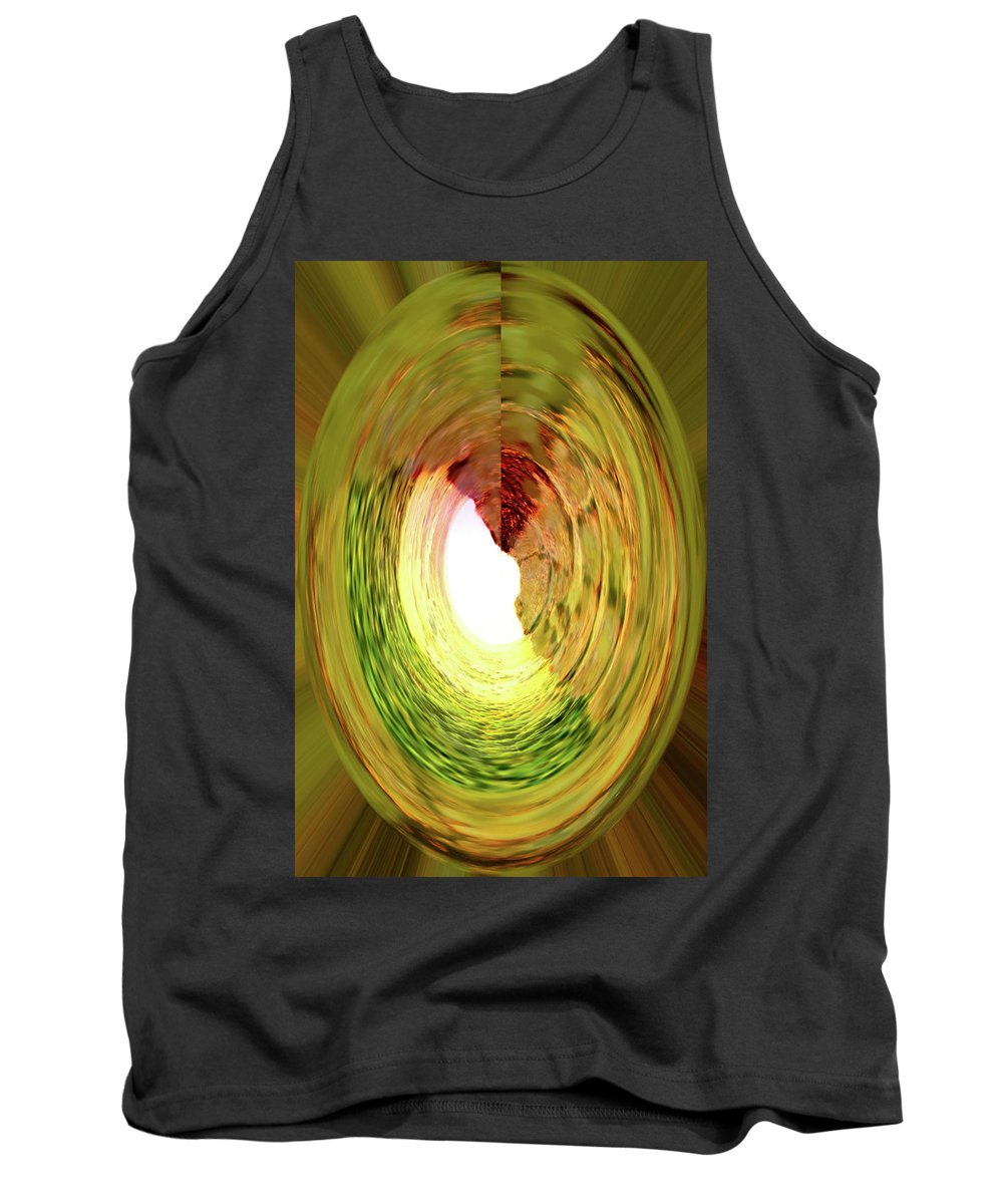 Abstract Tank Top featuring the digital art At The End Of The Tunnel by Ian MacDonald