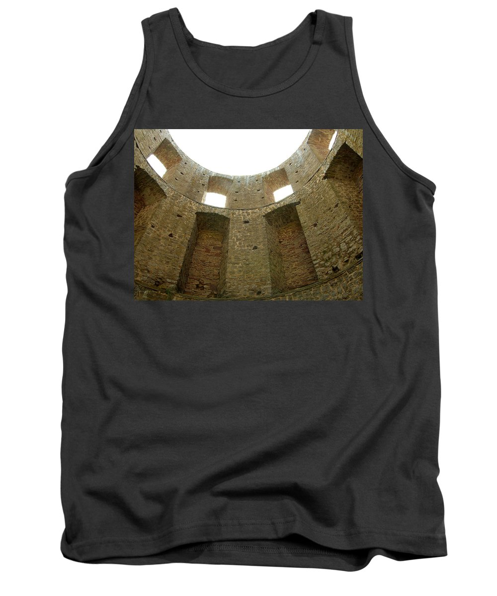 Tower Tank Top featuring the photograph At The Inside by Are Lund