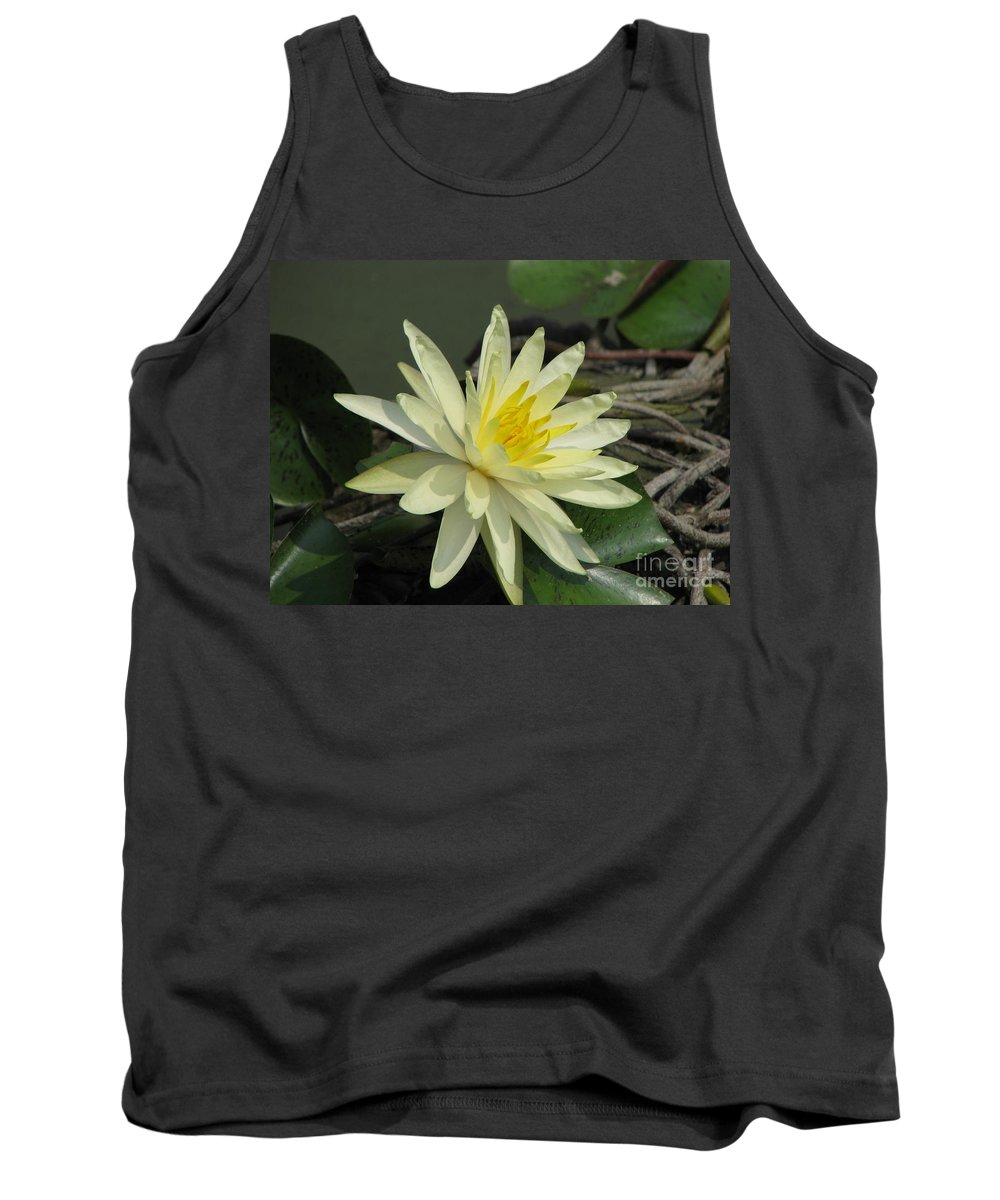 Lilly Tank Top featuring the photograph At The Pond by Amanda Barcon