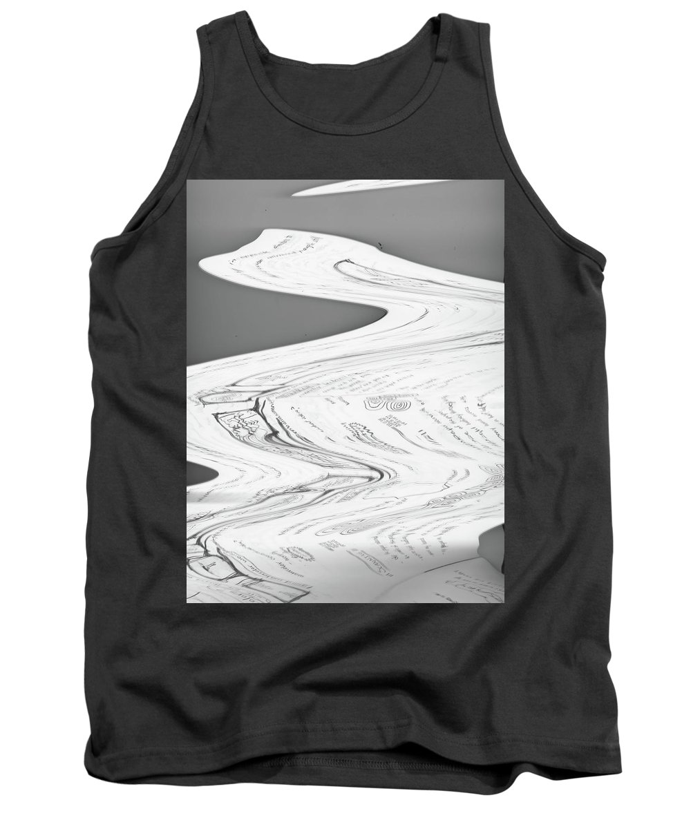 Xerox Tank Top featuring the mixed media Attention by Malachai Marzolf