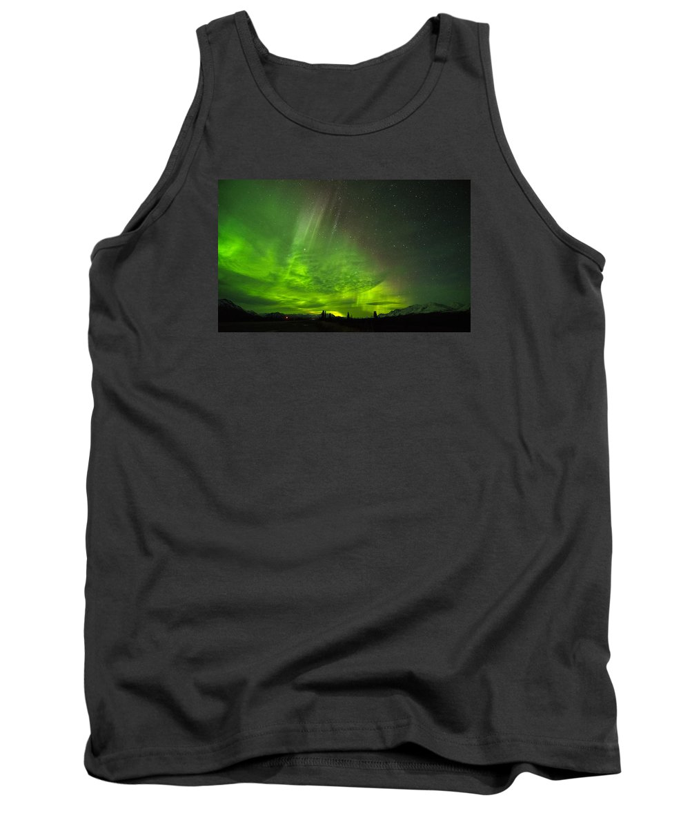 Wide Angle Astro Photography Tank Top featuring the photograph Aurora Wave by Mike Toms