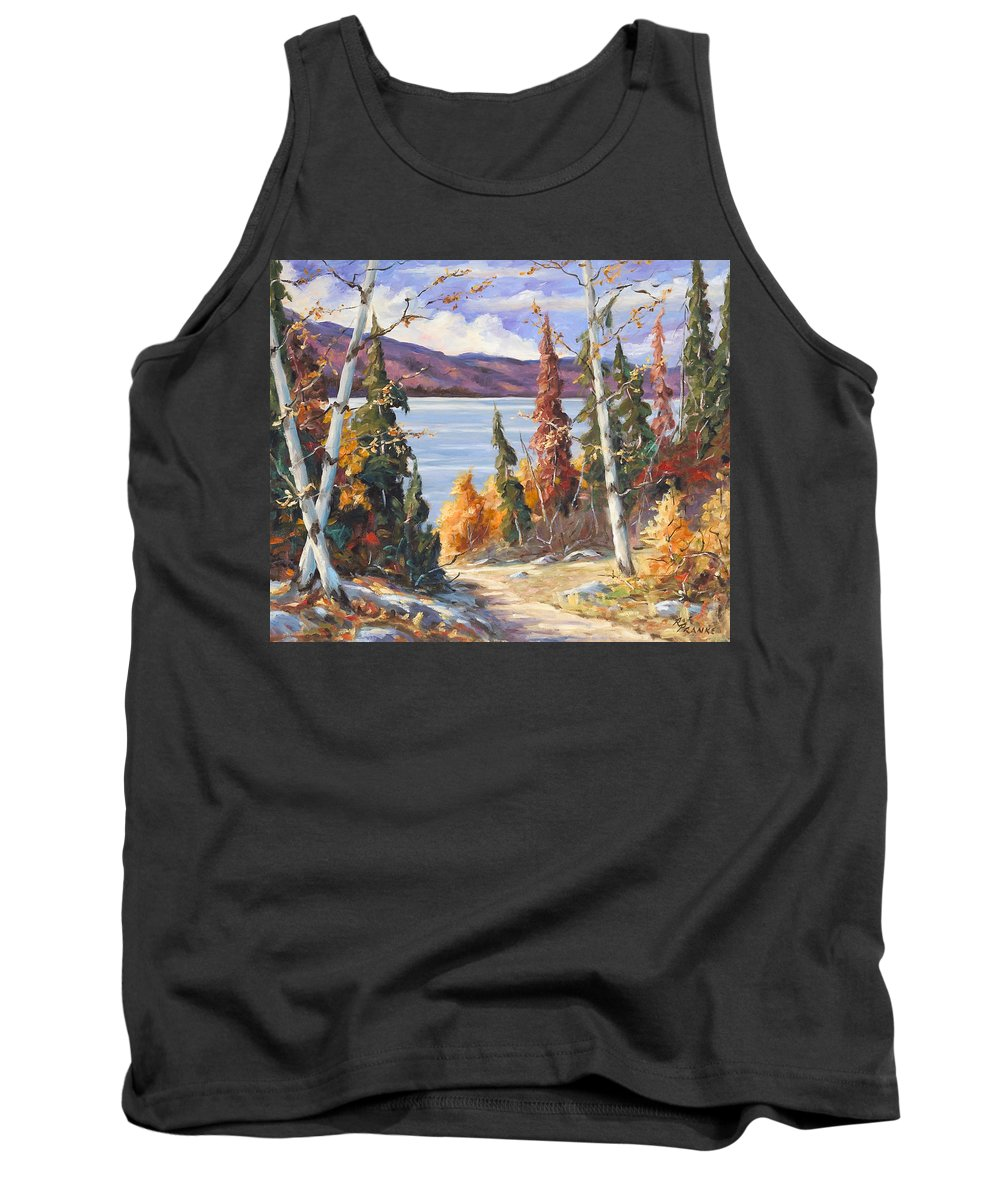 Art Tank Top featuring the painting Automn Colors by Richard T Pranke