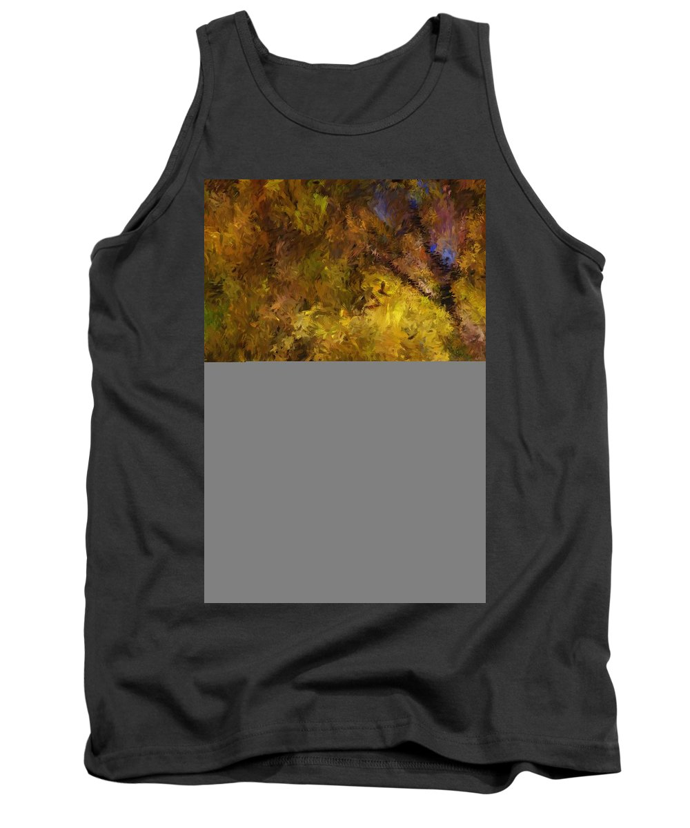 Abstract Digital Painting Tank Top featuring the digital art Autumn Abstract by David Lane