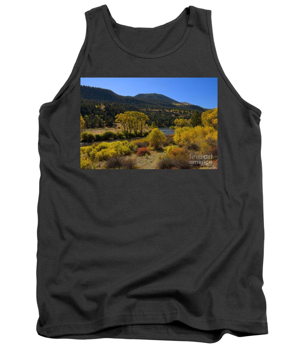 Rio Grande River Fall Colors Autumn Colorado New Mexico Tank Top featuring the photograph Autumn Along The Rio Grande by Carl Paulson