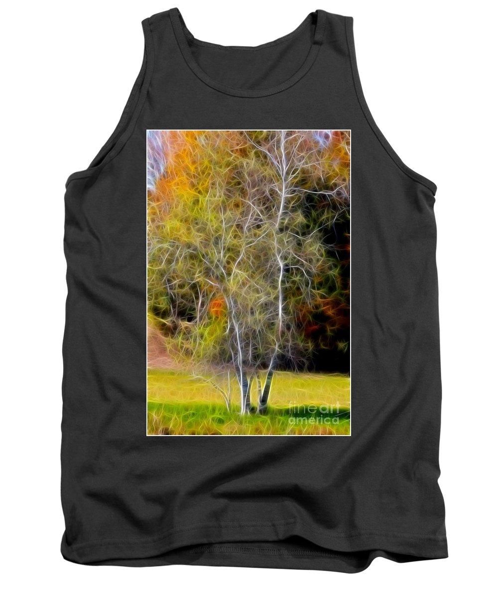 Photo Tank Top featuring the photograph Autumn Birch by Deborah Benoit
