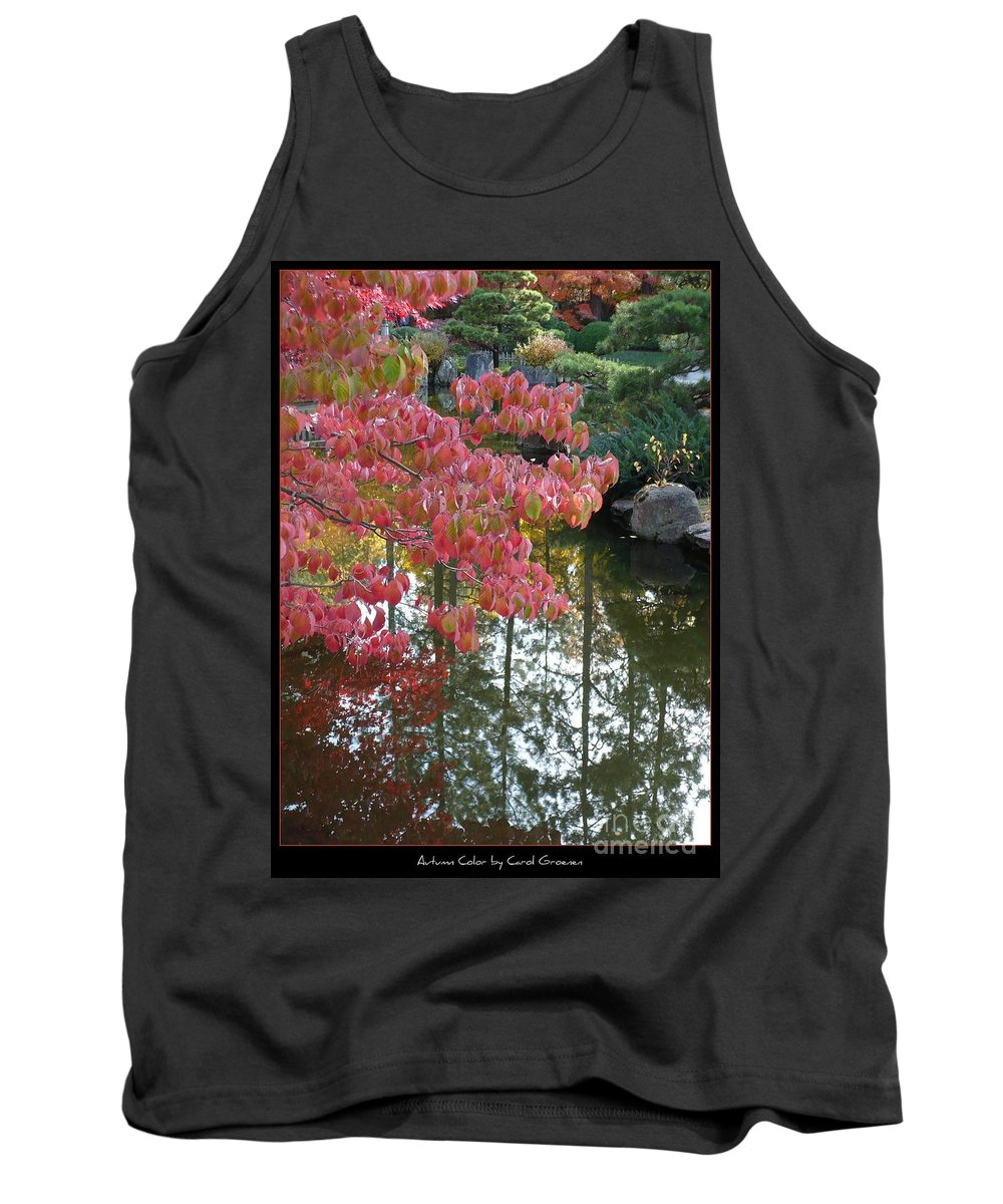 Colorful Tank Top featuring the photograph Autumn Color Poster by Carol Groenen