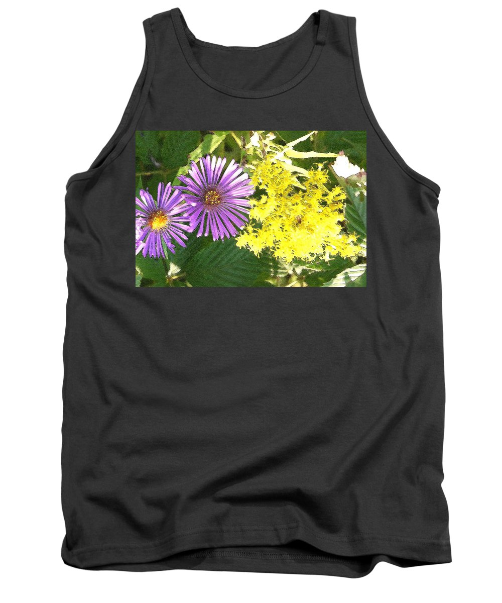 Aster Tank Top featuring the photograph Autumn Duo by Nelson Strong