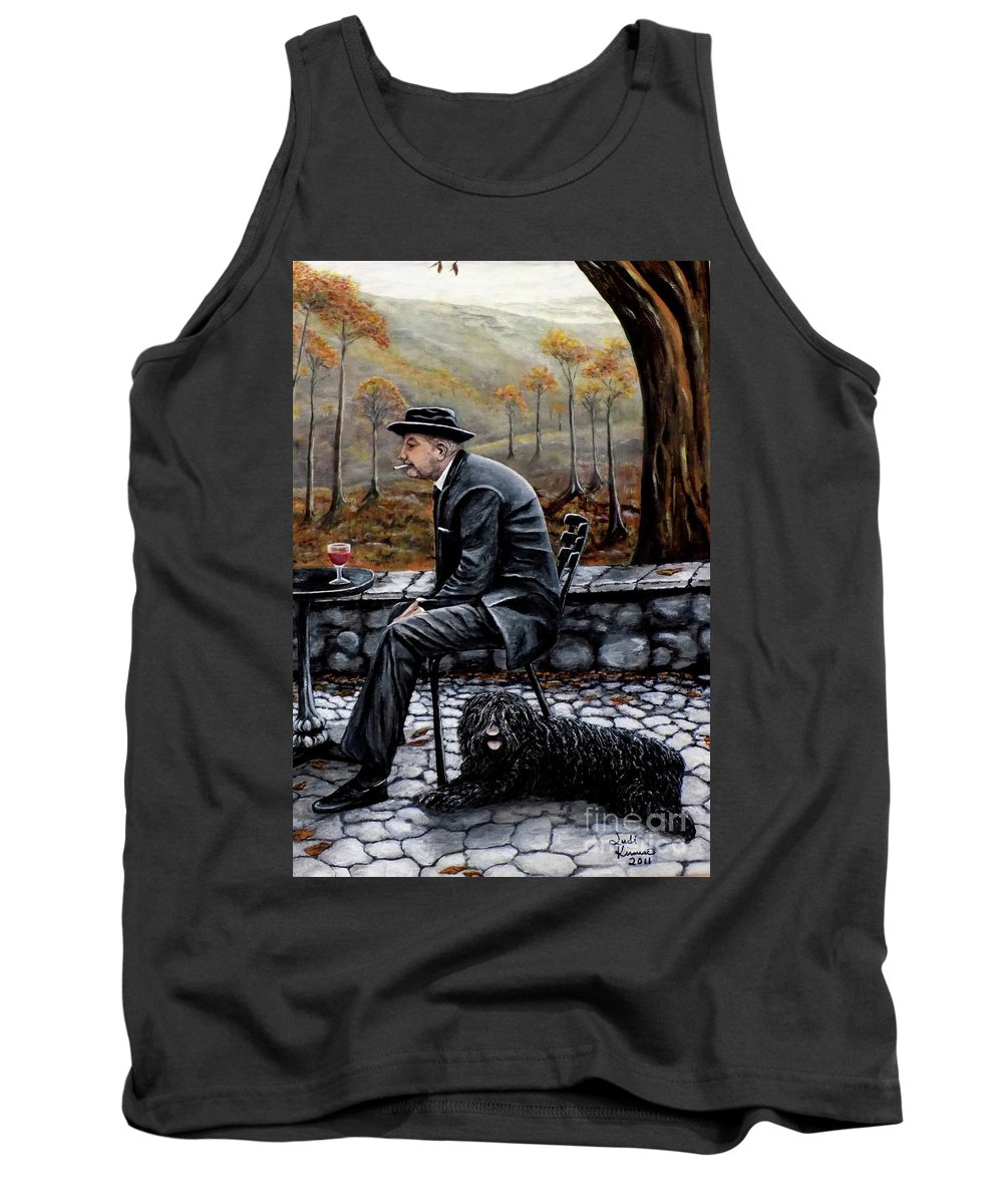 Autumn Tank Top featuring the painting Autumn Friends by Judy Kirouac