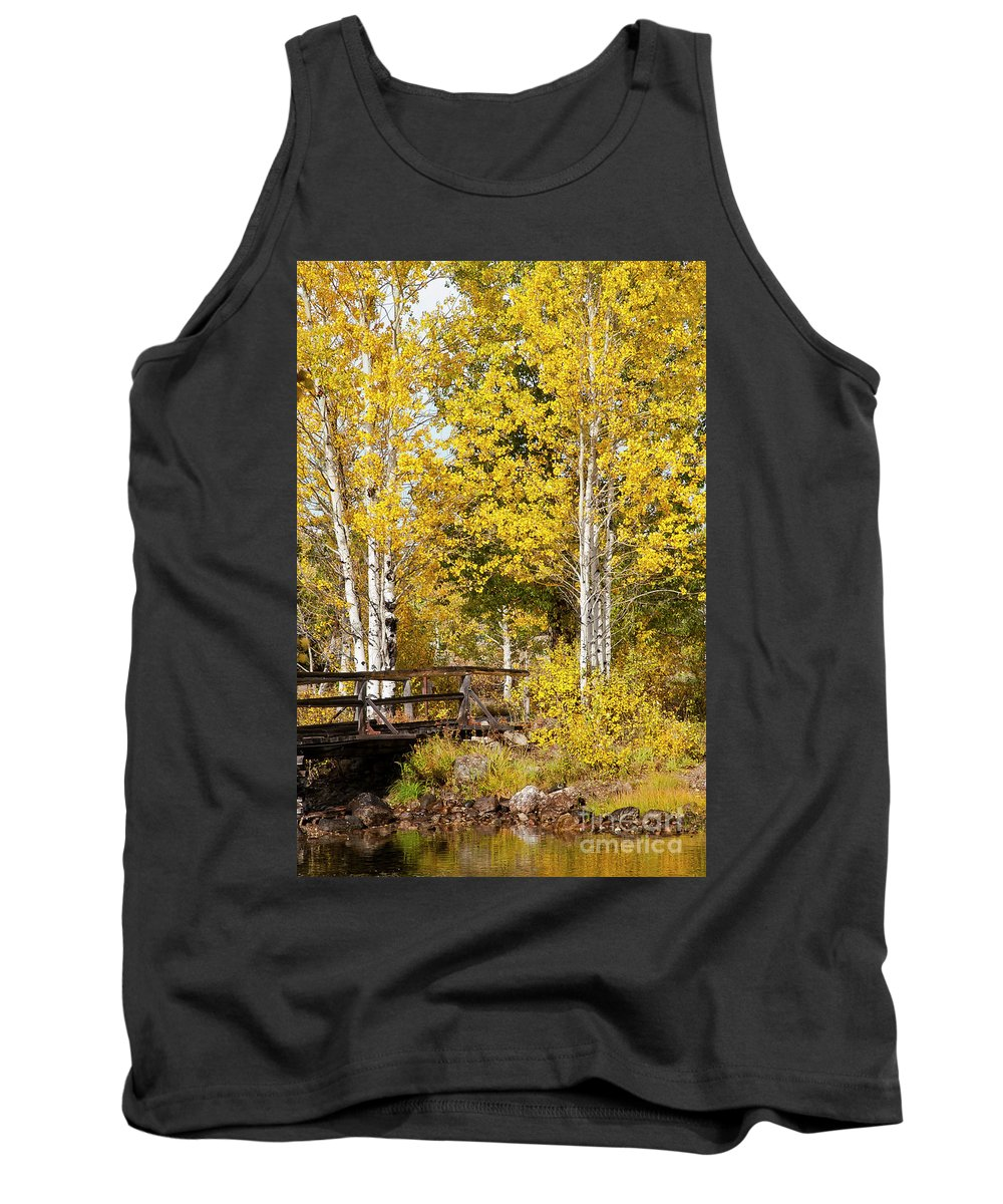 Grand Teton National Park Tank Top featuring the photograph Autumn In Teton National Park by Bob Phillips