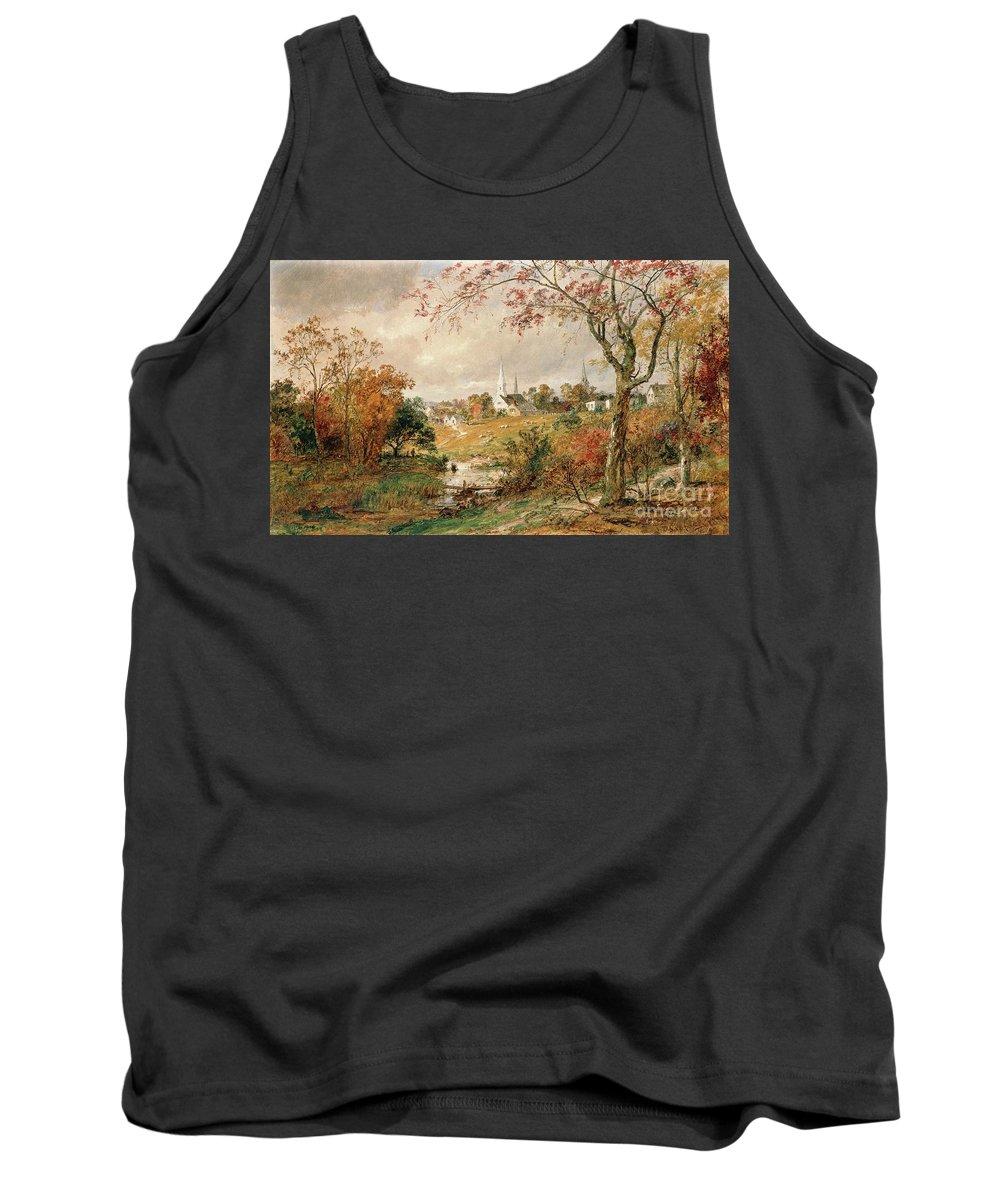 Autumn Landscape Tank Top featuring the painting Autumn Landscape by Jasper Francis Cropsey