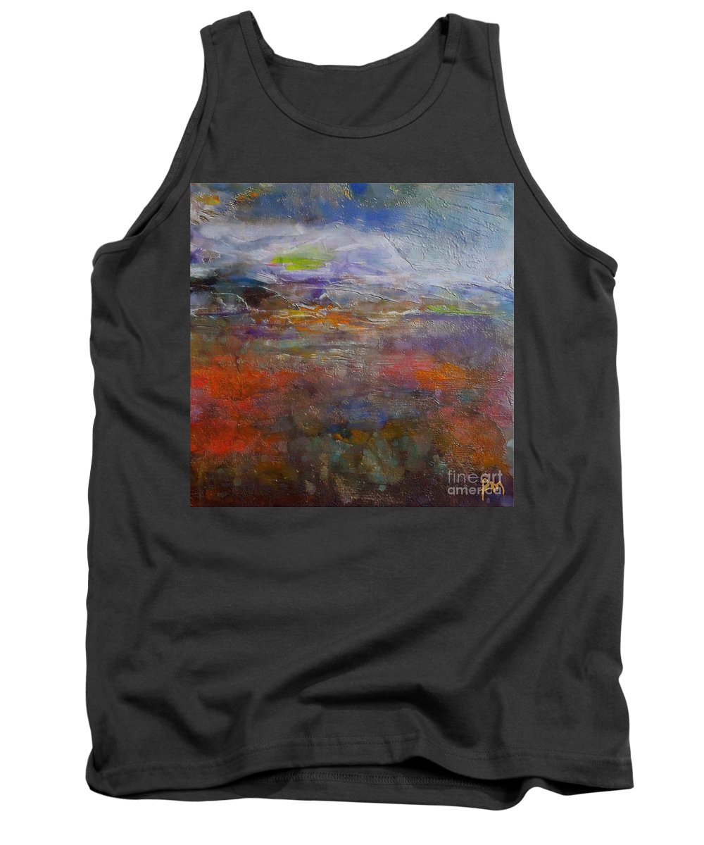 Autumn Tank Top featuring the painting Autumn Marsh by Dragica Micki Fortuna