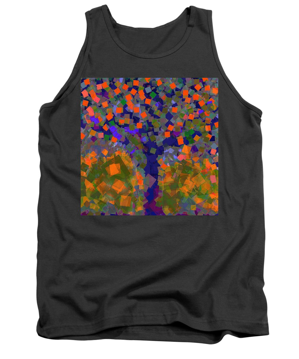 Tree Tank Top featuring the digital art Autumn Message Tree by Anthony Robinson