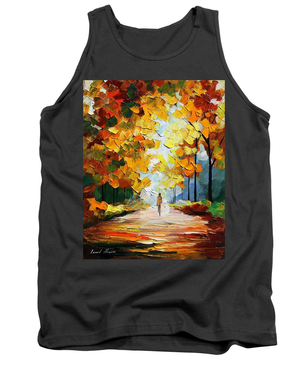 Landscape Tank Top featuring the painting Autumn Mood by Leonid Afremov