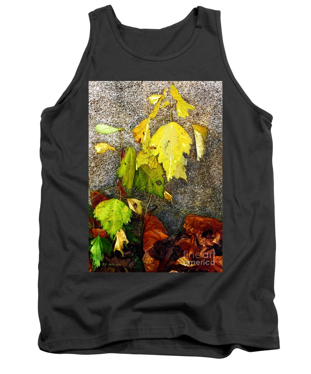 Autumn Tank Top featuring the painting Autumn Rainbow by RC DeWinter