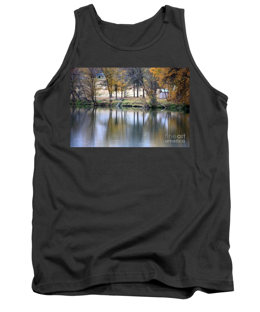 Fall Reflection Tank Top featuring the photograph Autumn Reflection 16 by Carol Groenen