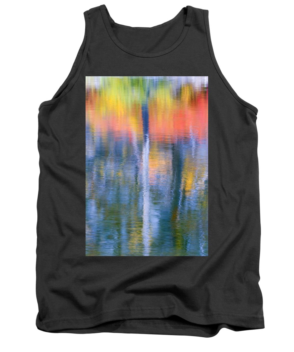Reflection Tank Top featuring the photograph Autumn Resurrection by Mike Dawson