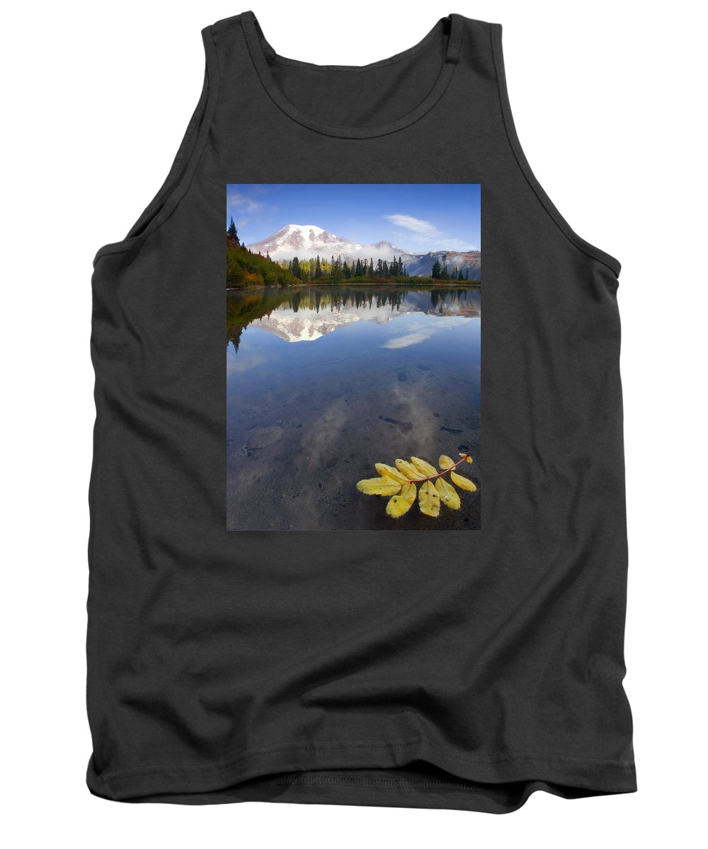 Rainier Tank Top featuring the photograph Autumn Suspended by Mike Dawson