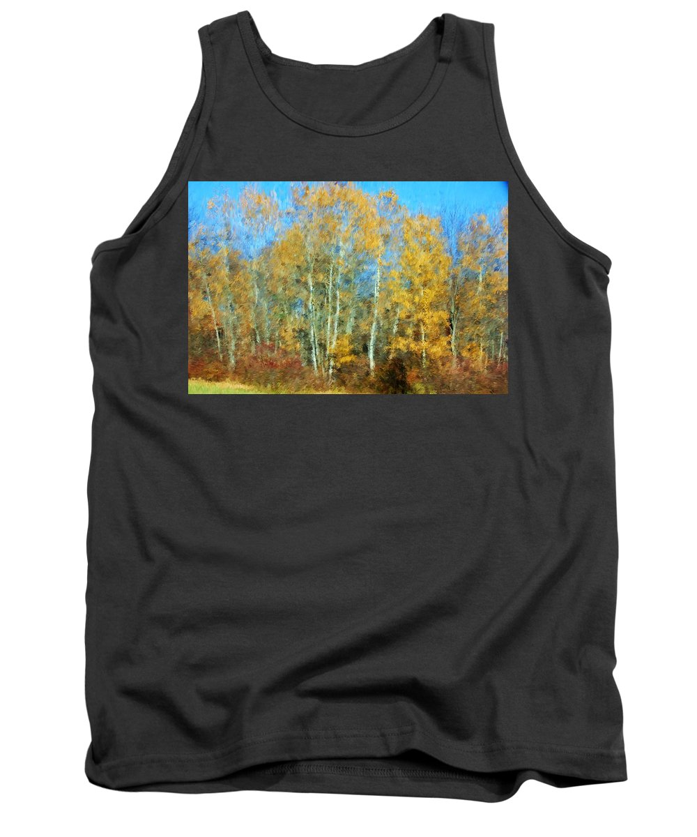 Tank Top featuring the photograph Autumn Woodlot by David Lane