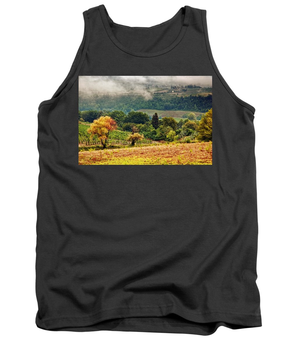 Fall Tank Top featuring the photograph Autumnal Hills by Silvia Ganora