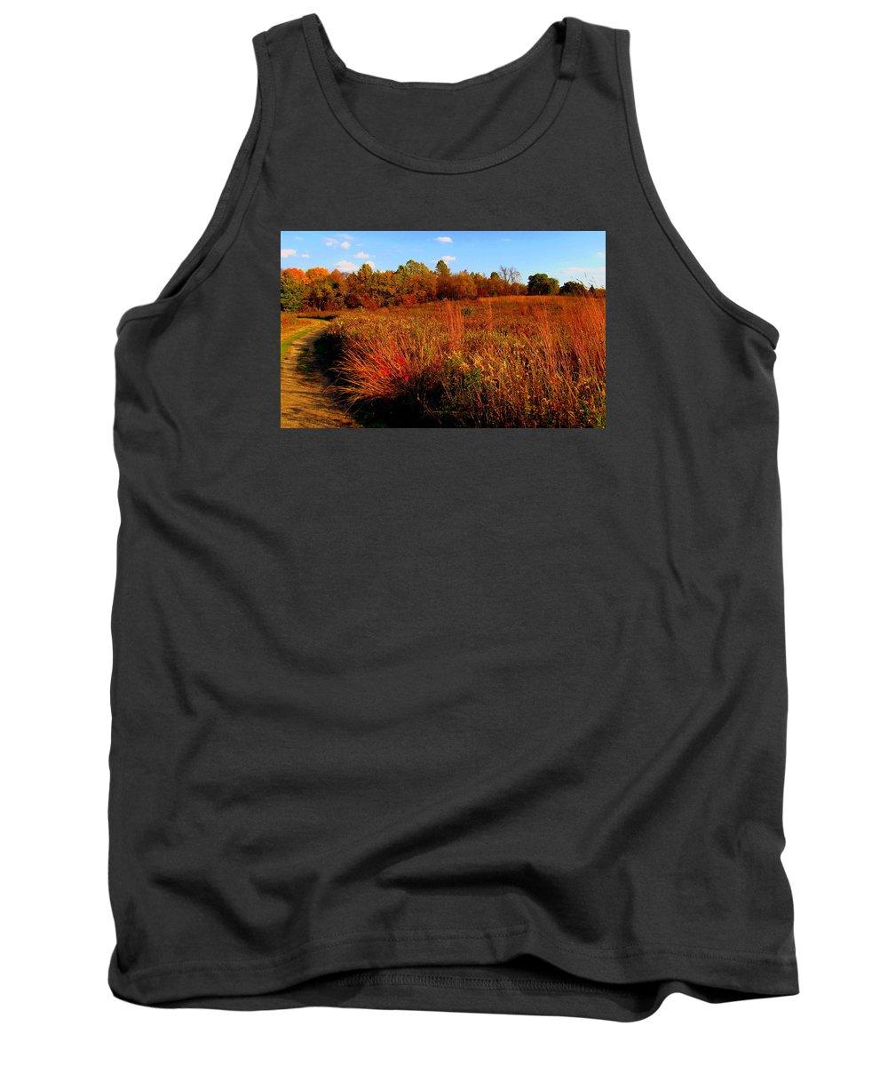 Autumn Tank Top featuring the painting Autumns Field by Scott Heaton