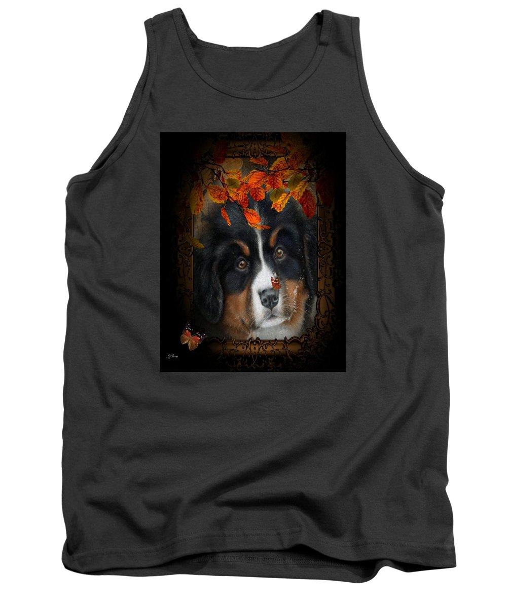 Pup Tank Top featuring the photograph Autumn's Pup by G Berry