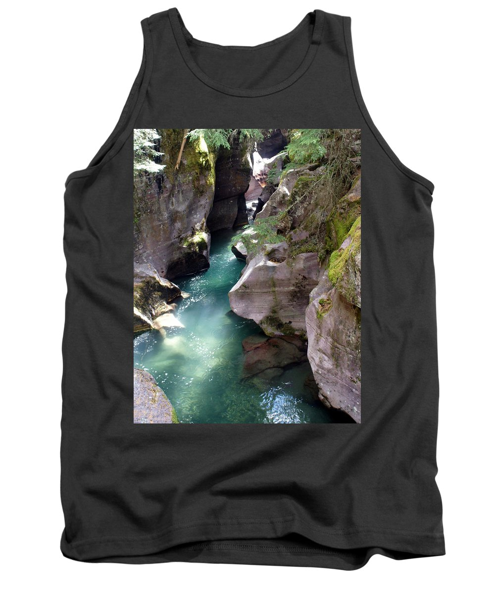 Glacier National Park Tank Top featuring the photograph Avalanche Creek Glacier National Park by Marty Koch