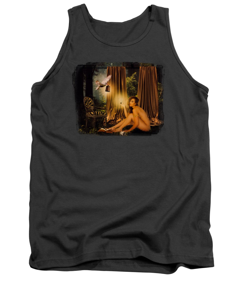 Solitude Tank Top featuring the digital art Away From The Maddening Crowd by Terry Fleckney