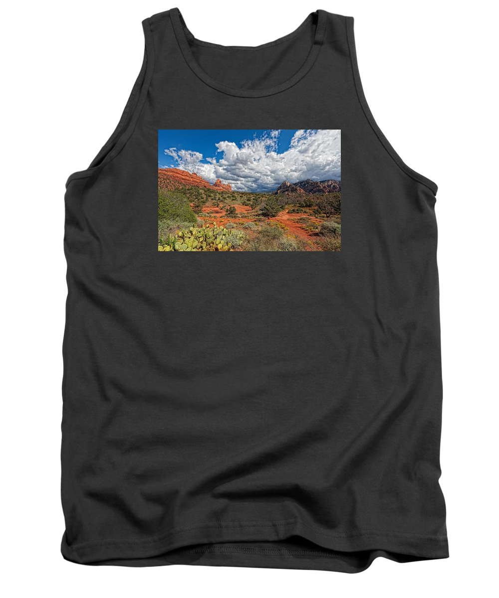 Arizona Tank Top featuring the photograph Az-sedona-schnebly Hill Rd-huckaby Trail by Arlene Waller