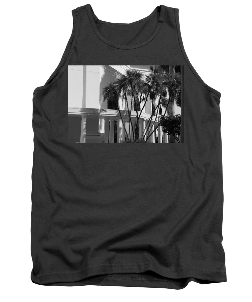 Black And White Tank Top featuring the photograph B S Post Modern..... by Rob Hans