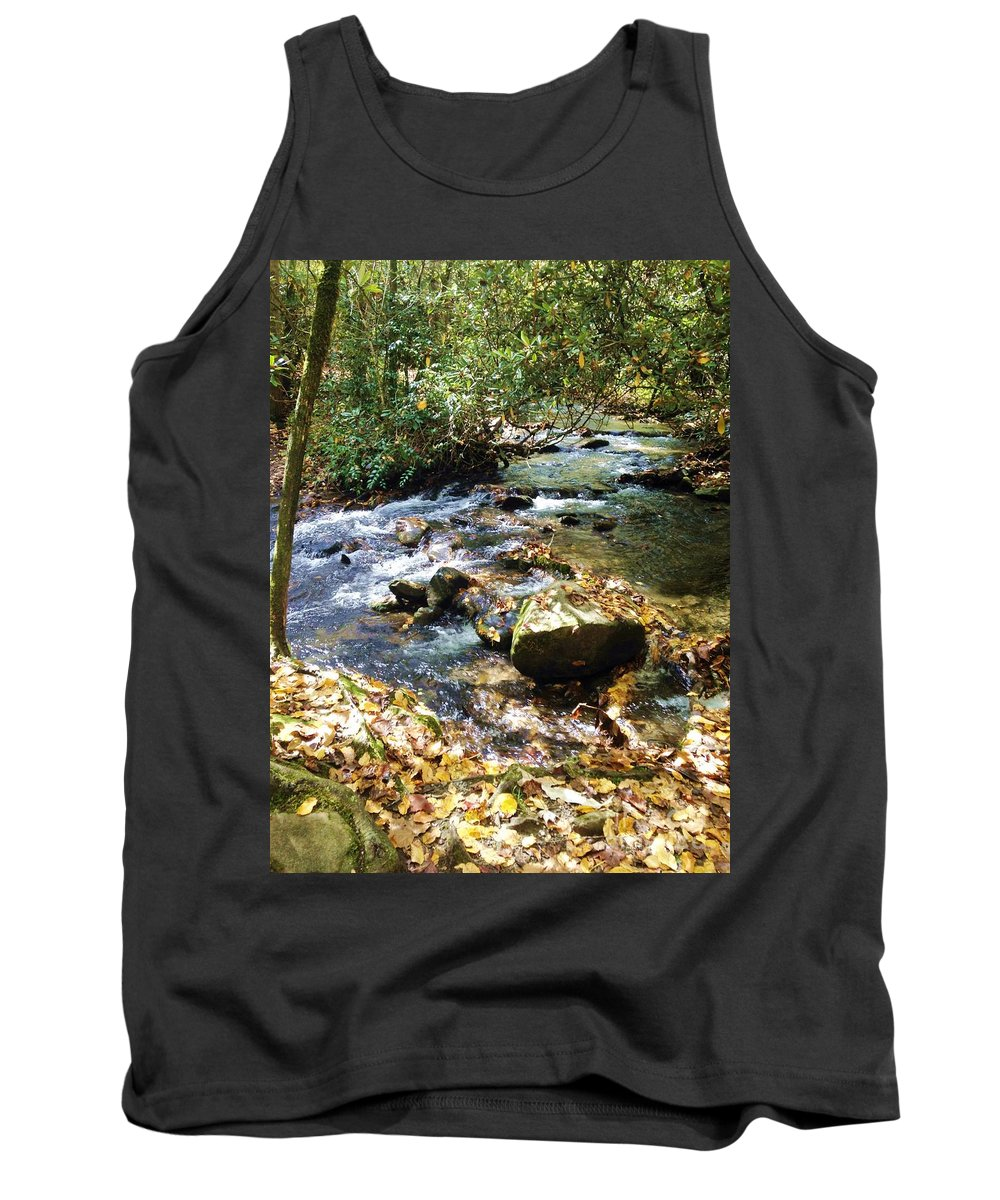River Tank Top featuring the photograph Babbling Brook by Donna Cain