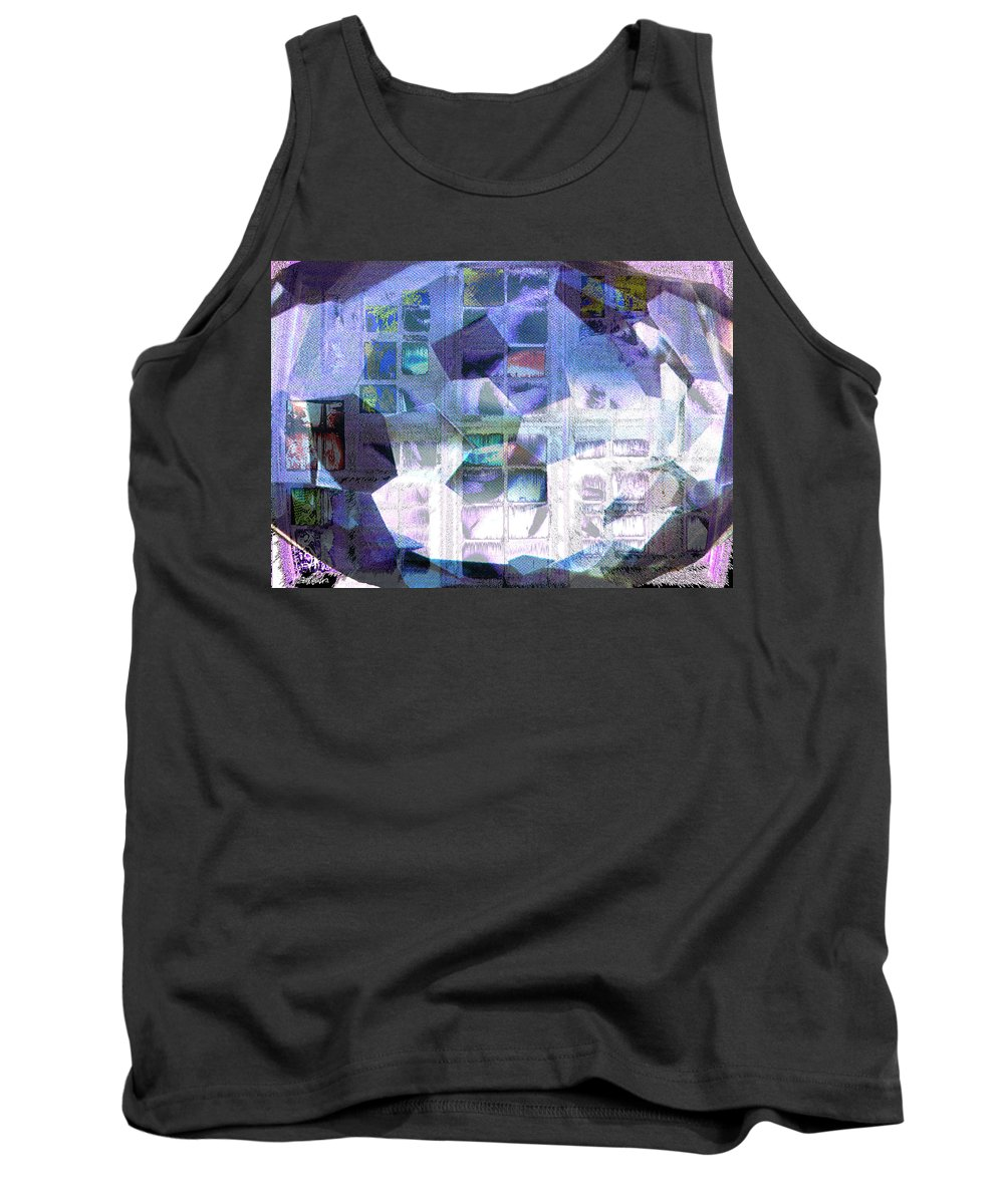Windows Tank Top featuring the digital art Baby Its Cold Outside by Seth Weaver