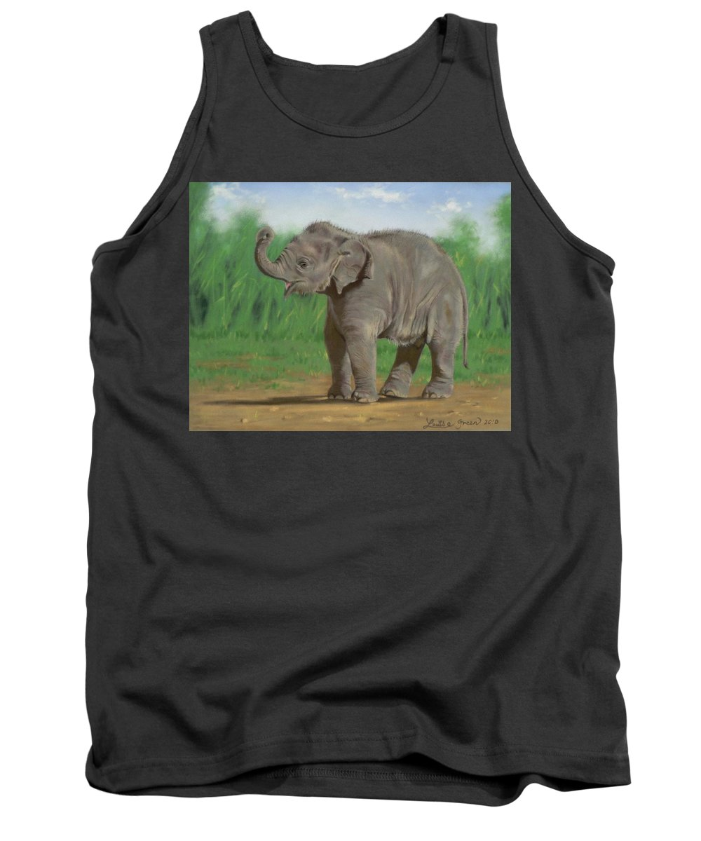 Pathi Harn Tank Top featuring the pastel Baby Pathi Harn by Louise Green