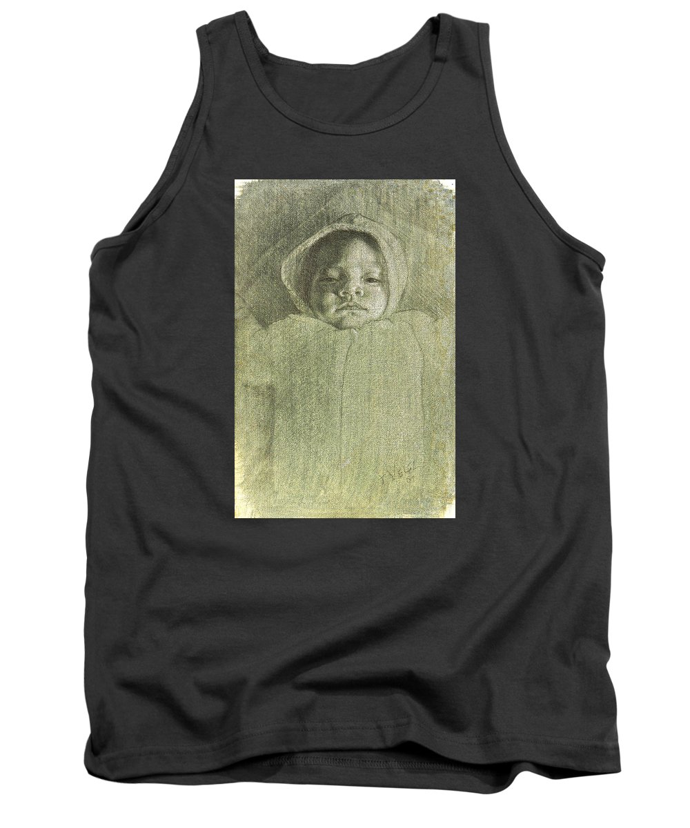 Tank Top featuring the painting Baby Self Portrait by Joe Velez