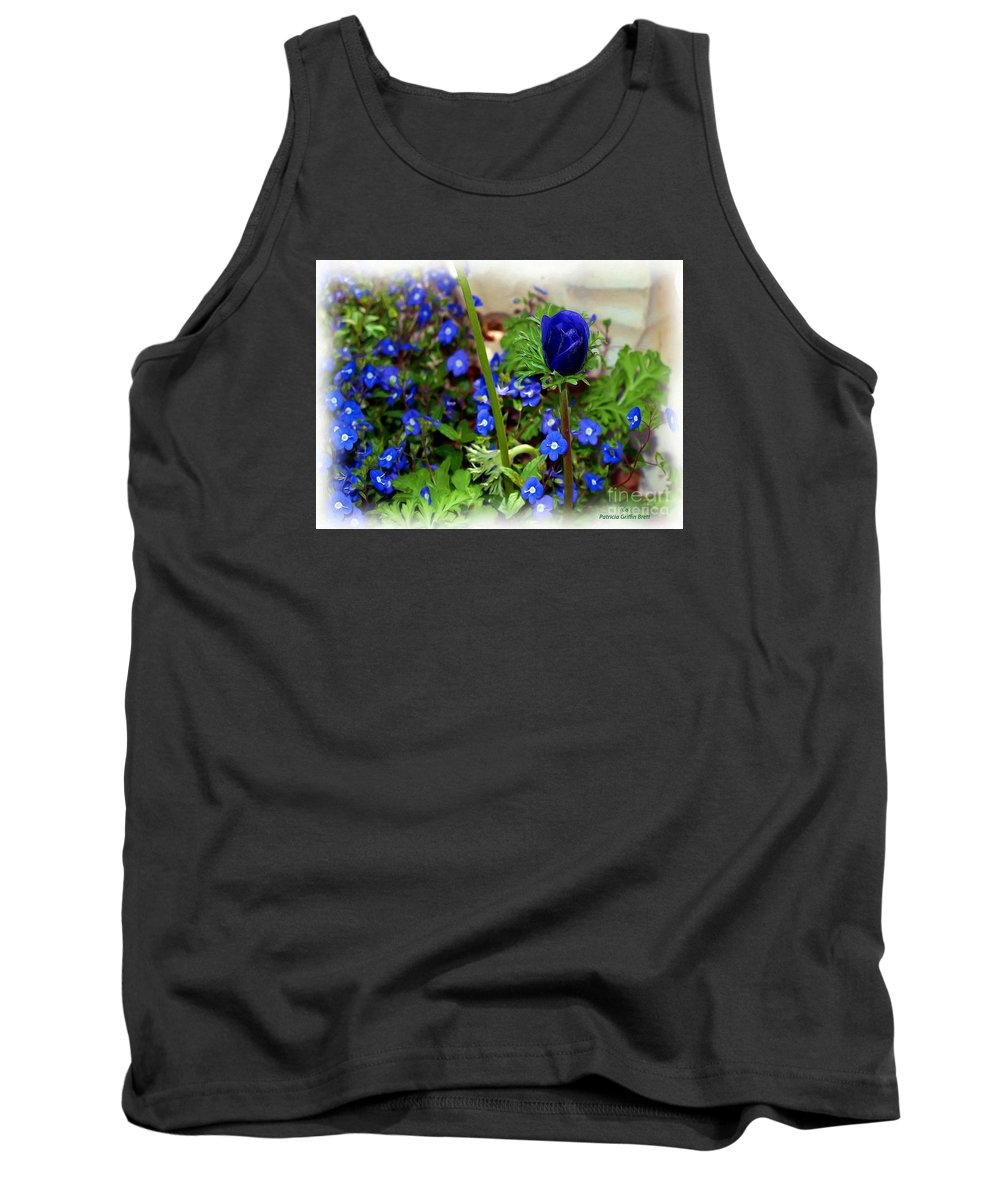 Fine Art Tank Top featuring the painting Babys Got The Blues by Patricia Griffin Brett