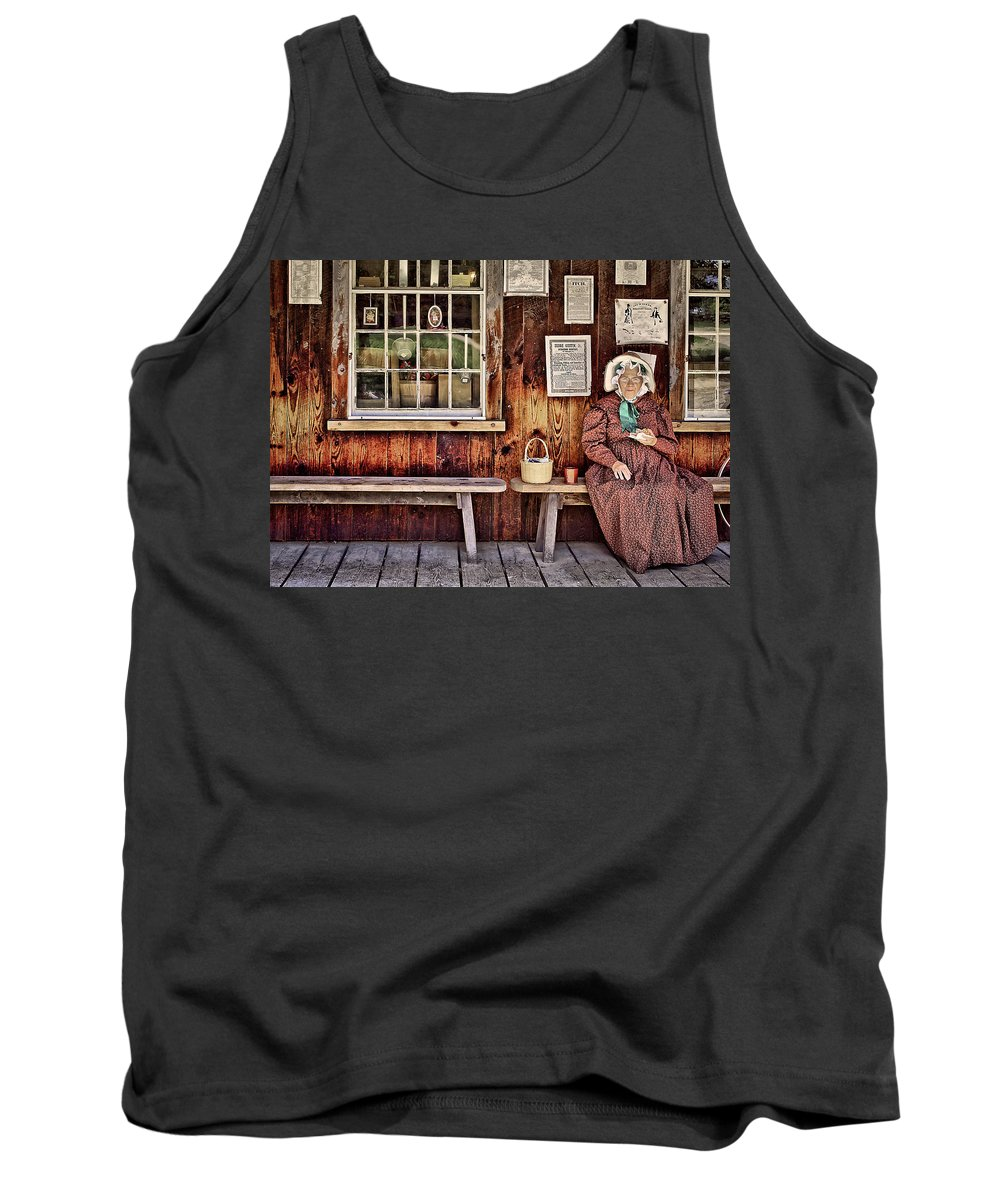 Bench Tank Top featuring the photograph Back In The Days by Evelina Kremsdorf