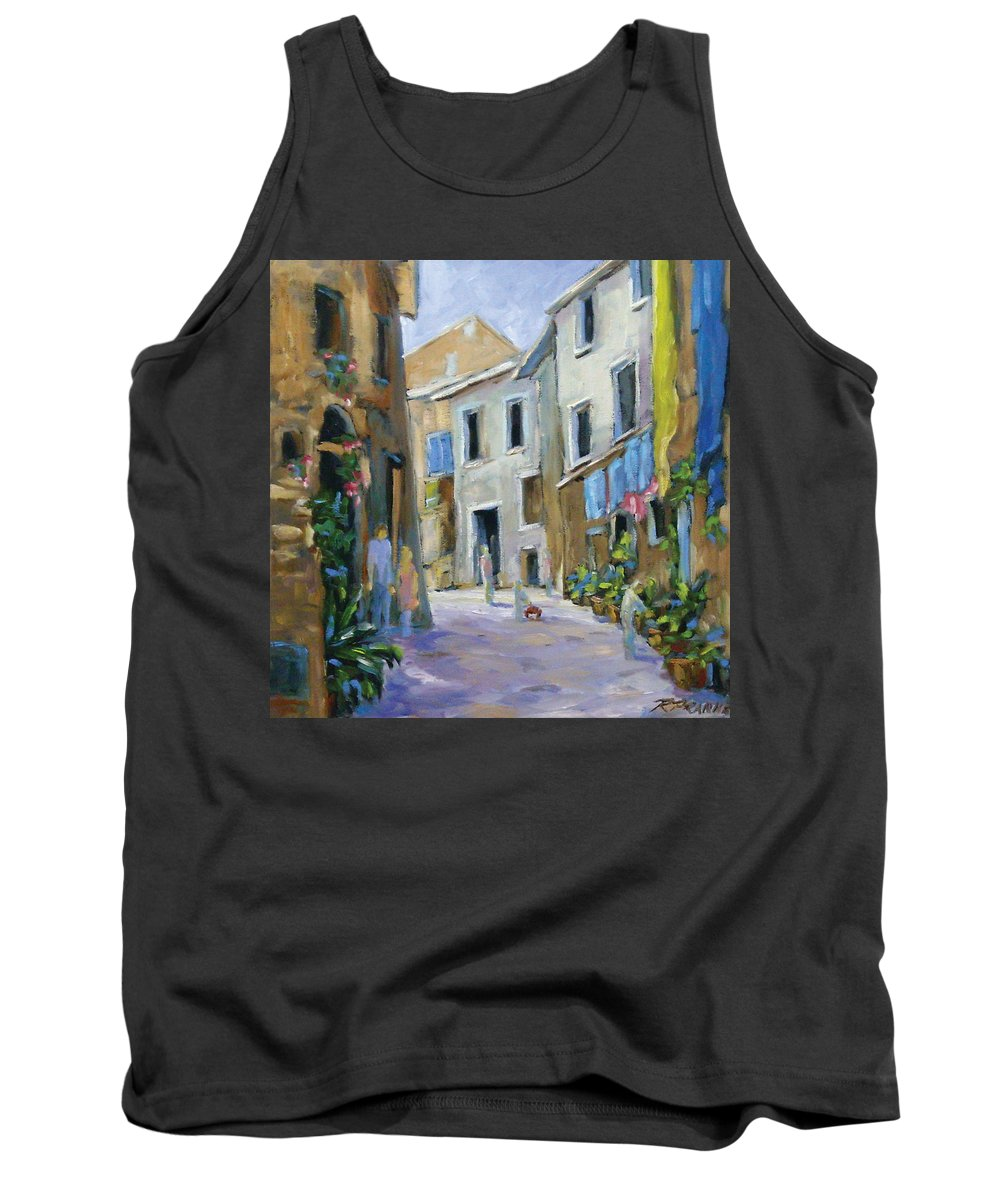 Urban Tank Top featuring the painting Back Street by Richard T Pranke