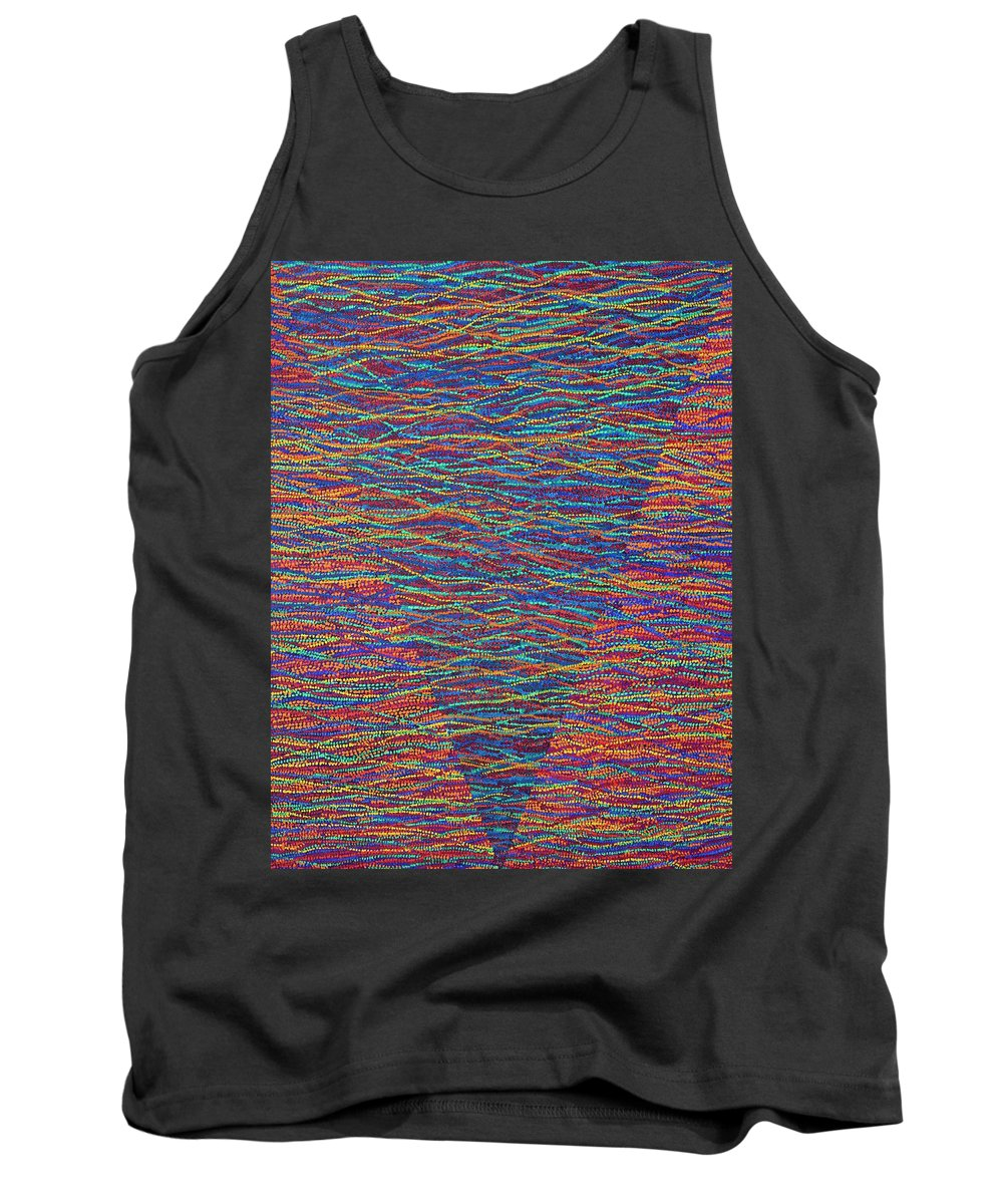 Spiritual Tank Top featuring the painting Back To Heaven 1 by Kyung Hee Hogg