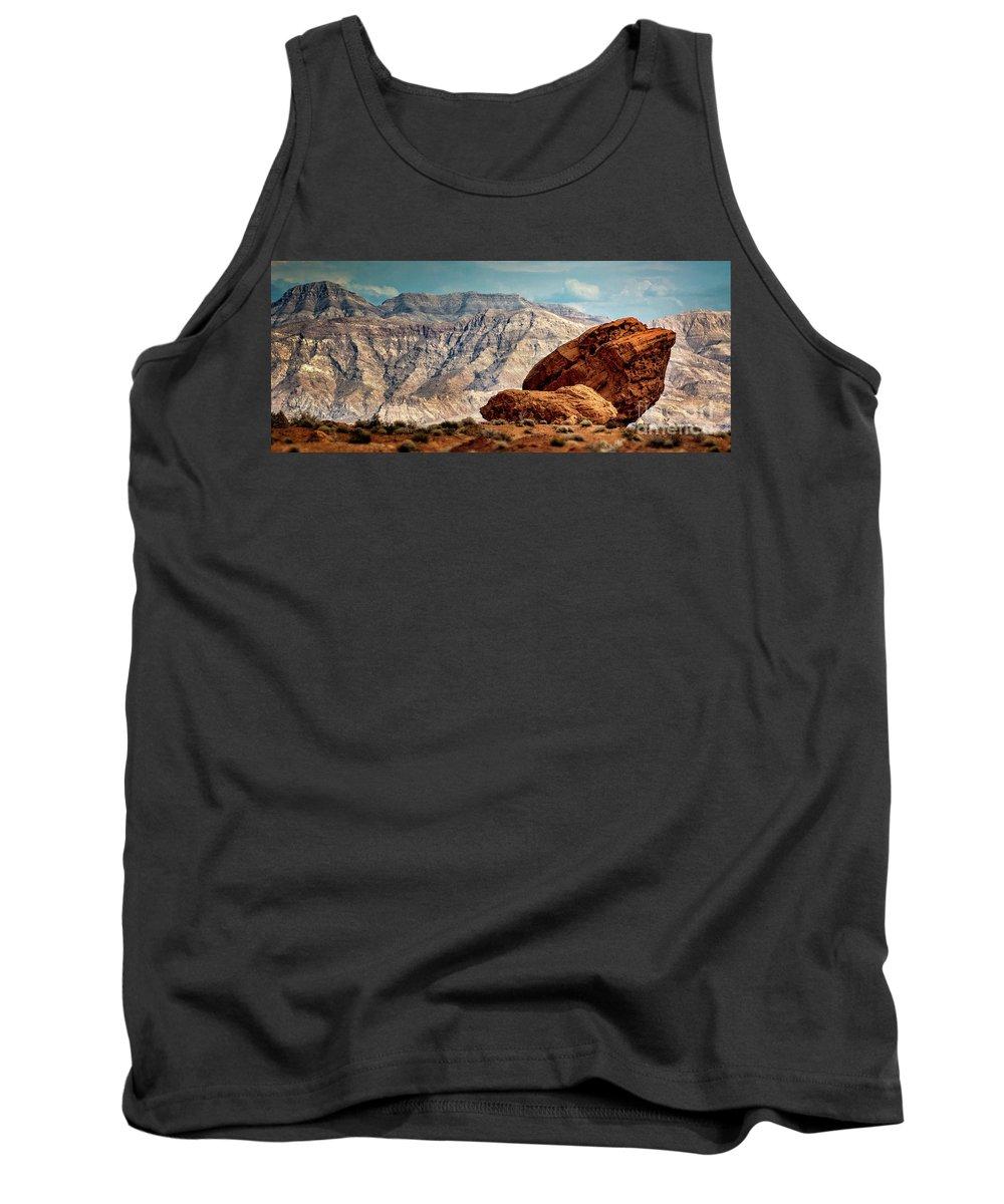 Boulder Tank Top featuring the photograph Balancing Rock by Doug Sturgess