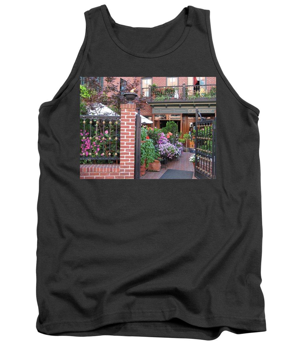 Courtyard Tank Top featuring the photograph Baltimore Cafe     By Jean Carton by Jerrold Carton