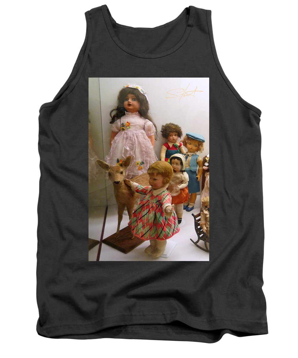 Deer Tank Top featuring the photograph Bambi And Baby by Charles Stuart