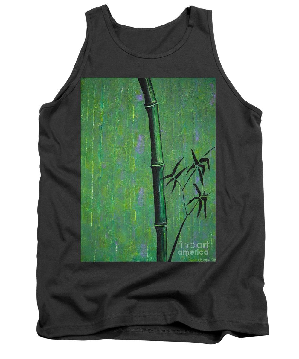 Bamboo Tank Top featuring the painting Bamboo by Jacqueline Athmann
