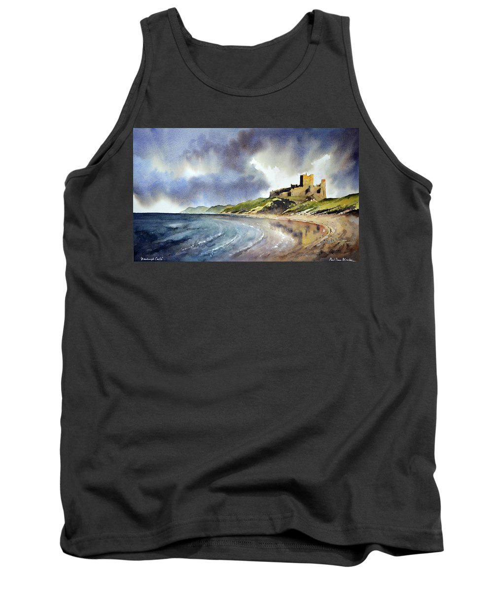 Bamburgh Castle Tank Top featuring the painting Bamburgh Castle by Paul Dene Marlor