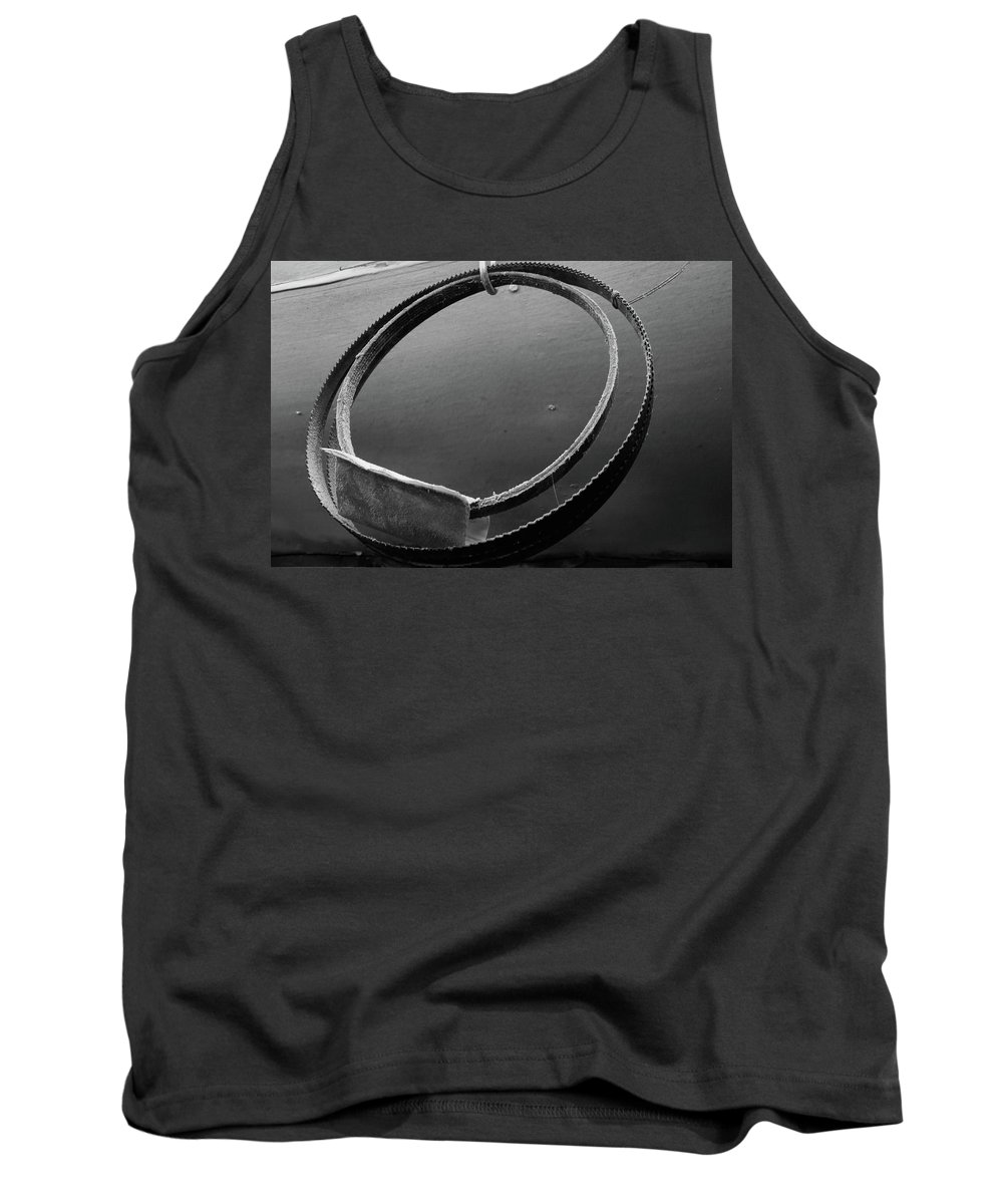 Circles Tank Top featuring the photograph Bandsaw Blade by Keith Elliott