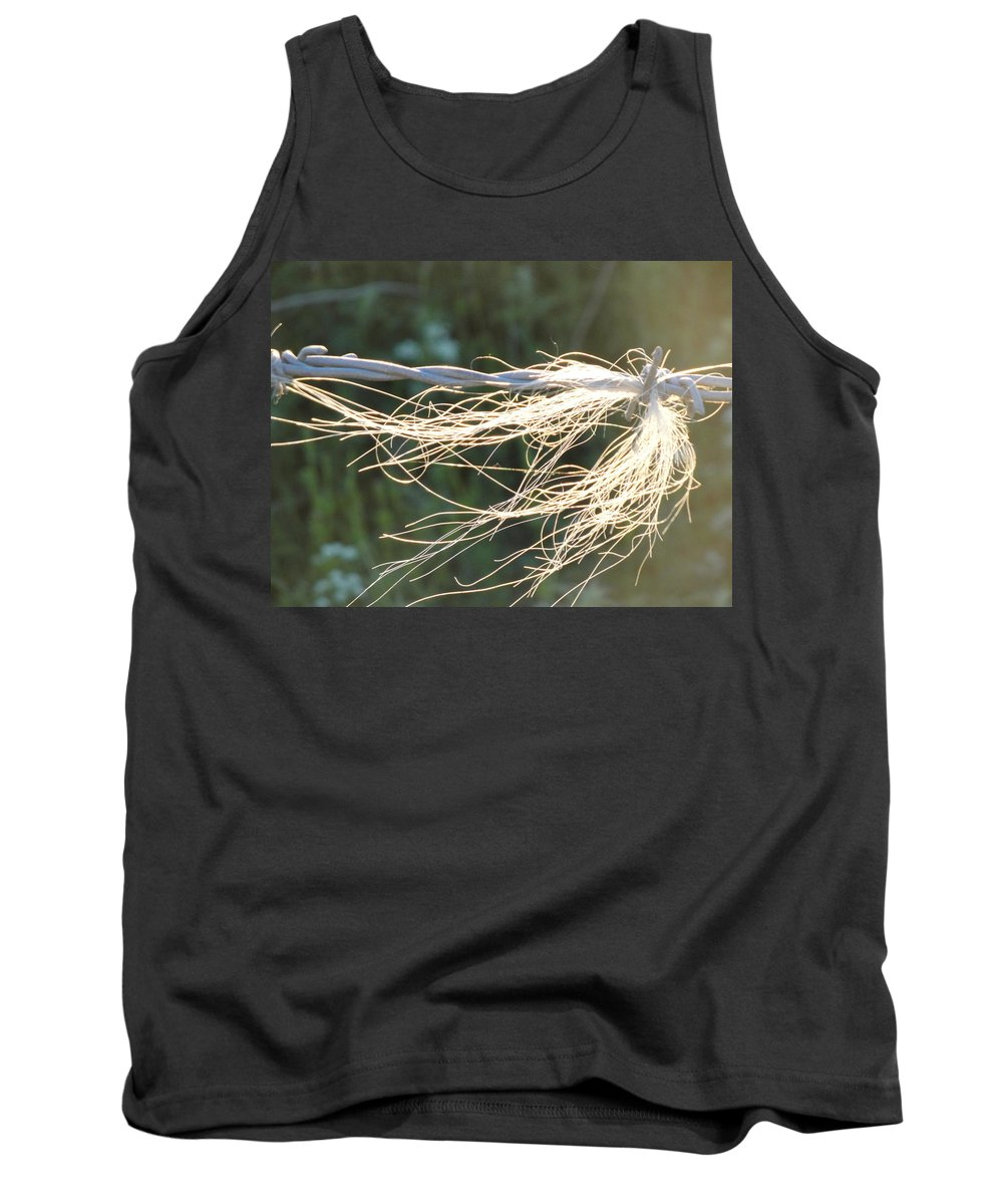 Barbed Wire Tank Top featuring the photograph Barbed Wire by Susan Baker
