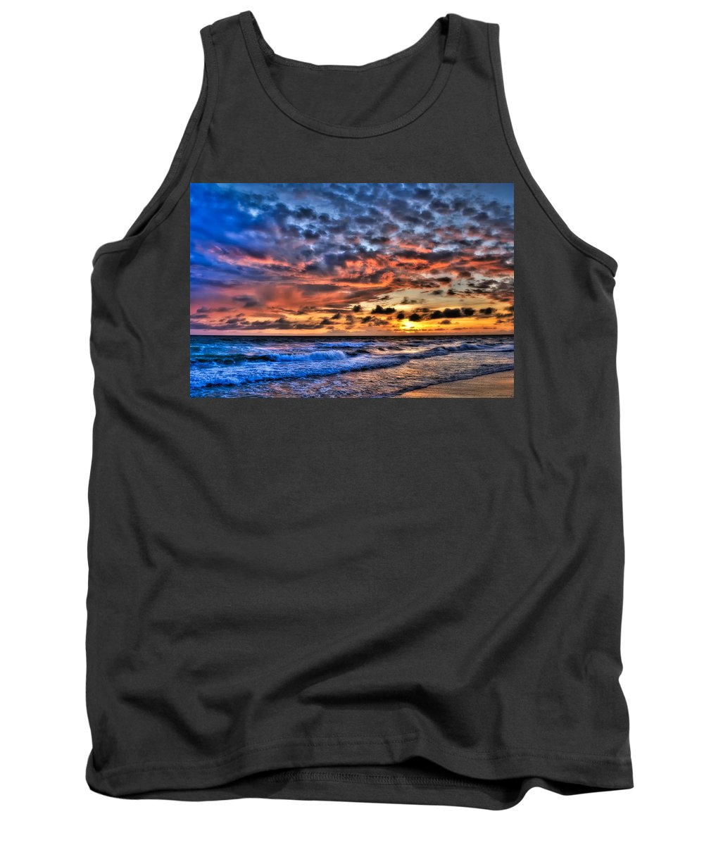 Sunset Tank Top featuring the photograph Barefoot Beach Sunset by Rich Leighton