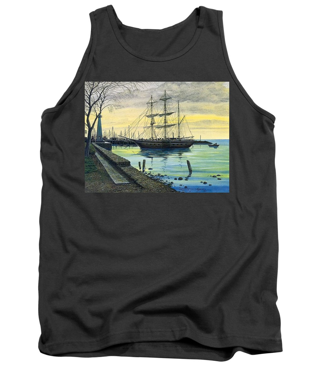 Swamp Tank Top featuring the digital art Bark Carthaginian Robert Lyn Nelson by Eloisa Mannion