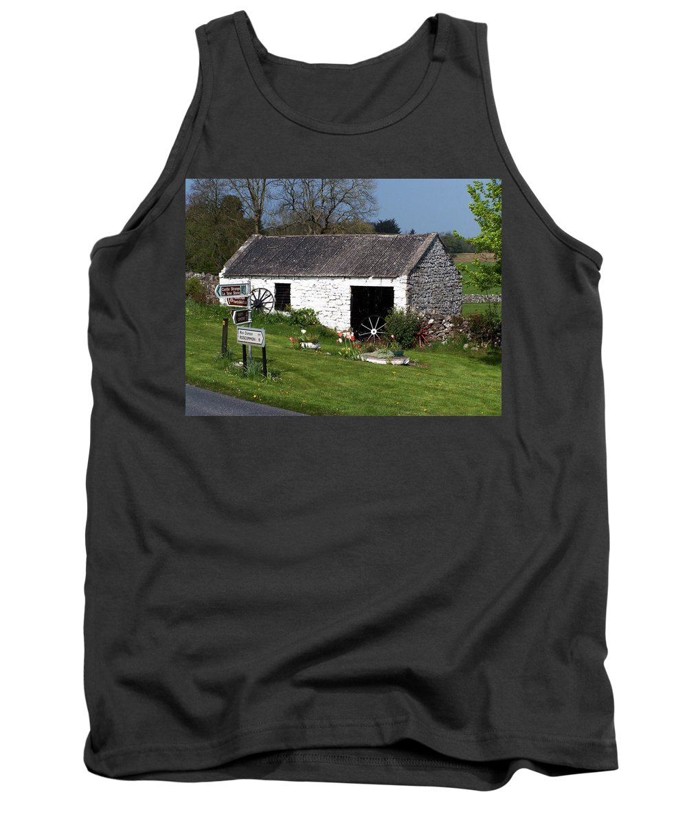 Ireland Tank Top featuring the photograph Barn At Fuerty Church Roscommon Ireland by Teresa Mucha