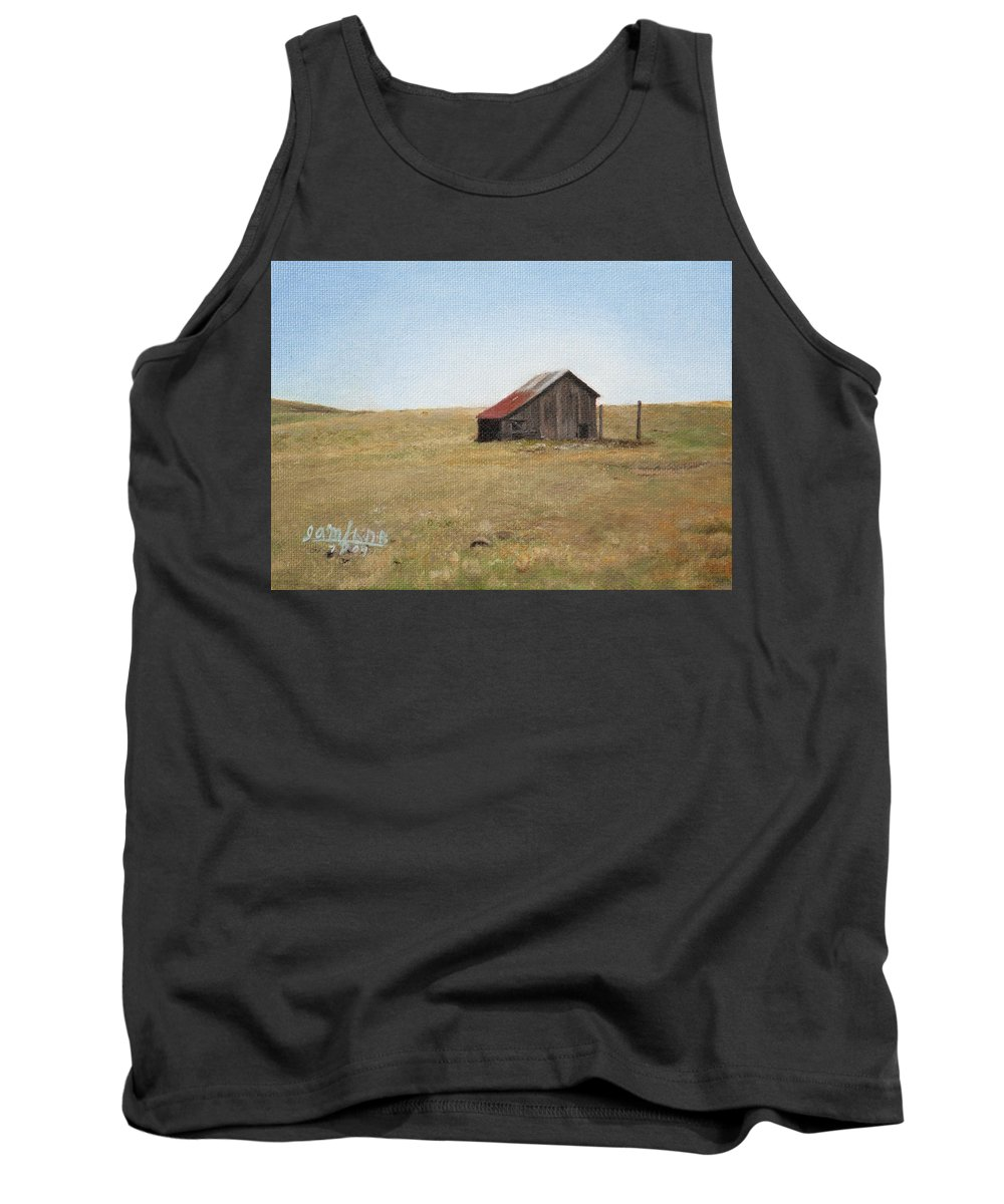 Landscape Tank Top featuring the painting Barn by Joshua Martin