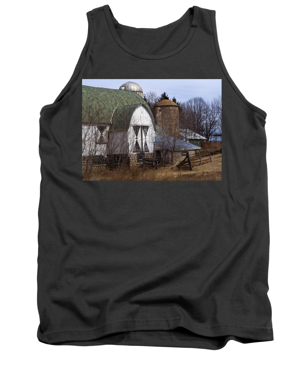 Barn Tank Top featuring the photograph Barn On 29 by Tim Nyberg