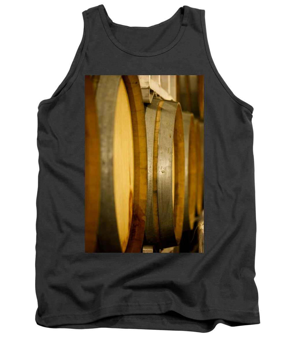 Wine Tank Top featuring the photograph Barrels Of Fun by Lisa Knechtel
